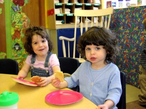 The girls right after their second birthday